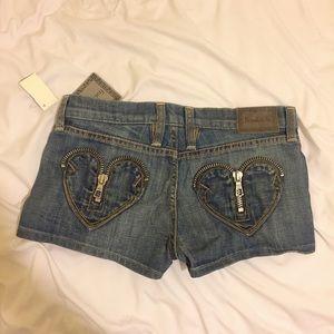 Frankie B heart zipper shorts 4